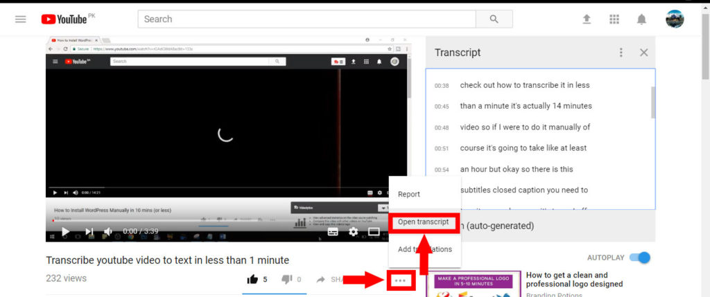 How to Transcribe YouTube Video to Text in Less than A