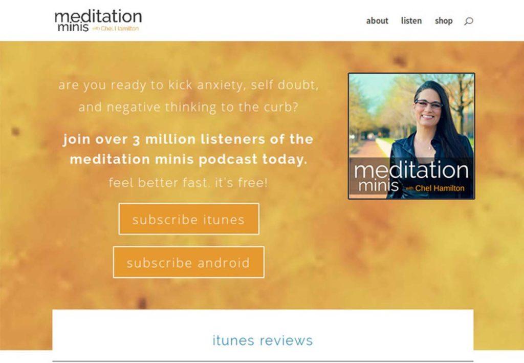 meditation minis website design