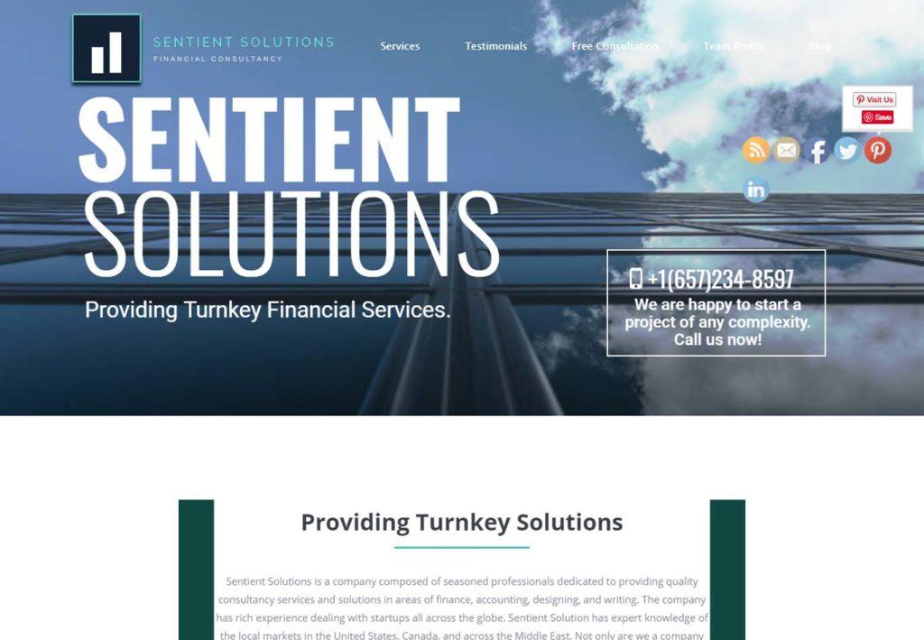 sentient solutions web design