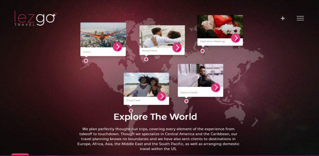 lez go travel web design